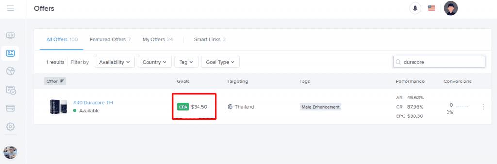 Affiliate Marketing Thái Lan Duracore
